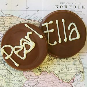 Personalised Handmade Chocolate Disc - cakes & treats