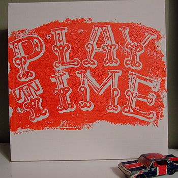 Playtime canvas in red