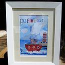 'Puffa Boat' Collage Print