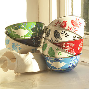 Lolita & Eva Hand Painted Enamel Bowls - home accessories