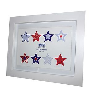 Christening Gift Stars Print - for new mothers