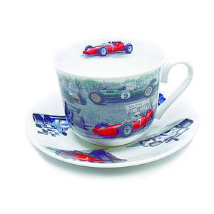 Racing Car Breakfast Cup And Saucer - sport-lover