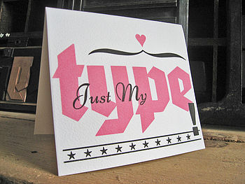 'Just My Type' Letterpress Card