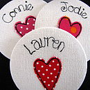 Personalised Love Heart Compact Mirror