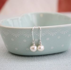 Silver Freshwater Pearl Earrings - women's jewellery