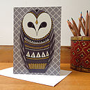 Folk Inspired Greetings Card