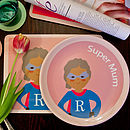 Personalised Supermum Plate