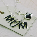 Personalised Initial Necklace With Heart