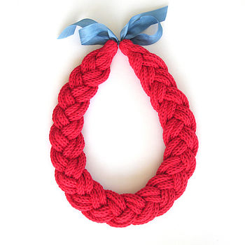 Hand Knitted Plait Necklace