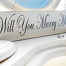 Valentines Engagement Proposal Plaque