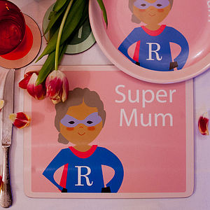 Personalised Supermum Placemat - crockery & chinaware