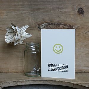 Smile Thank You Card