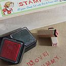 Set Of Rubber Alphabet Stamps