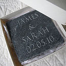 Personalised Wedding Gift Slate