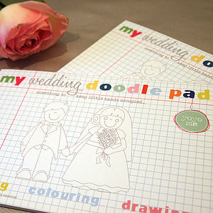 Wedding Alphabet Doodle Pad - children's parties