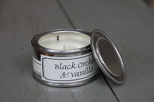 Black Orchid And Vanilla Candle - lighting