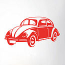 Retro Vw Beetle Vinyl Wall Sticker