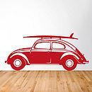 Classic Vw Beetle Vinyl Wall Sticker