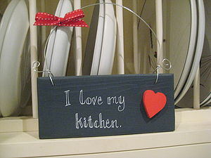 'Love My Kitchen' Sign
