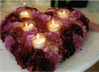 Passionately Yours Flowers And Candles