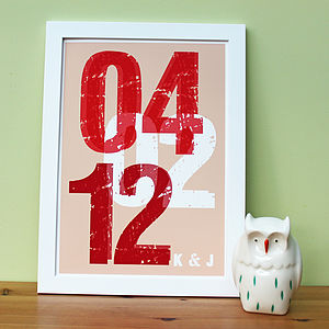 'Personalised Date' Fine Art Print
