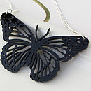 Lace Inspired Butterfly Necklace