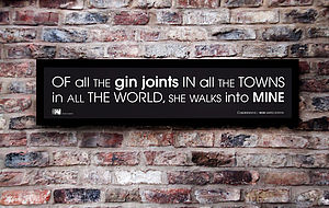 'Gin Joints' Personalised Framed Print - posters & prints