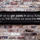 'Gin Joints' Personalised Framed Print