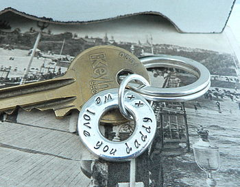 Your Message Key Ring Charm