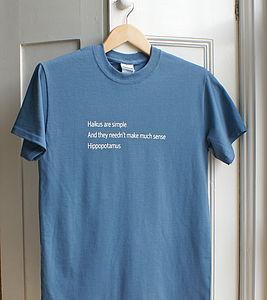 Hippopotamus Haiku T Shirt