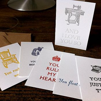 Mini Letterpress Card Set