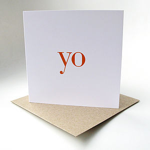 'Yo' Greeting Card