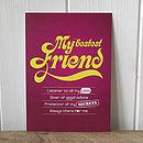 'My Bestest Friend' Keepcard