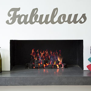 'Fabulous' Metal Sign - home accessories
