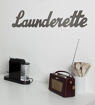 'Launderette' Metal Sign