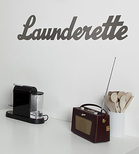 'Launderette' Metal Sign - metallics