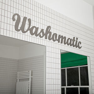 'Washomatic' Metal Sign