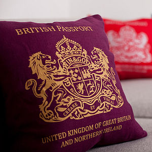 British Passport Cushion - living & decorating