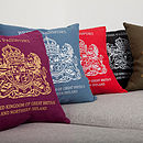 British Passport cushions lifestyle