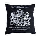 Black British Passport Cushion