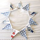 Nautical & Blue Gingham Mini-Bunting