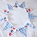 Tiddler & Blue Gingham Mini-Bunting