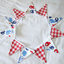 Tiddler & Red Gingham Mini-Bunting