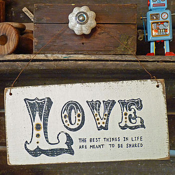 Personalised Ornate Vintage Love Sign