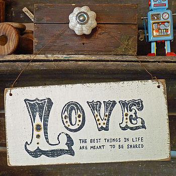 Personalised Ornate Vintage Love Sign