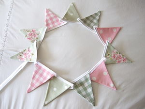 Green Mini Bunting - Various Designs - living room
