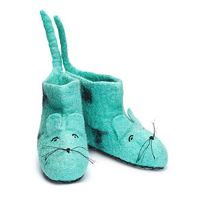 Miles Mouse Felt Slippers - organic & fairtrade clothing