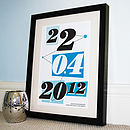 Personalised Memorable Date Retro Print