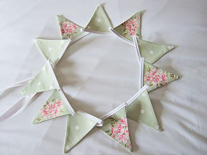 Green Mini Bunting - Various Designs - outdoor decorations