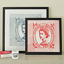 Queen Postage Stamp Prints